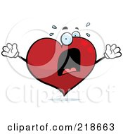 Royalty Free RF Clipart Illustration Of A Panicked Heart Freaking Out