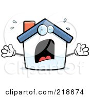 Royalty Free RF Clipart Illustration Of A Panicked House Freaking Out