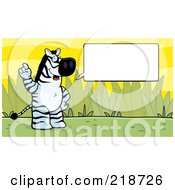 Royalty Free RF Clipart Illustration Of A Zebra Expressing An Idea by Cory Thoman