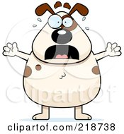 Royalty Free RF Clipart Illustration Of A Plump Dog Freaking Out
