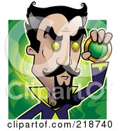 Royalty Free RF Clipart Illustration Of An Evil Hypnotist Holding A Medalian
