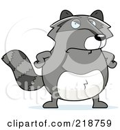 Royalty Free RF Clipart Illustration Of A Plump Raccoon Standing With His Hands On His Hips
