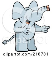 Royalty Free RF Clipart Illustration Of An Elephant Laughing And Pointing
