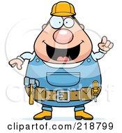 Plump Builder Man With An Idea