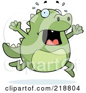 Royalty Free RF Clipart Illustration Of A Stressed Lizard Freaking Out