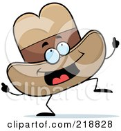 Royalty Free RF Clipart Illustration Of A Dancing Cowboy Hat Character