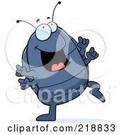 Royalty Free RF Clipart Illustration Of A Pillbug Doing A Happy Dance