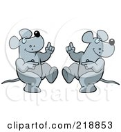 Royalty Free RF Clipart Illustration Of A Dancing Rat Couple by Cory Thoman
