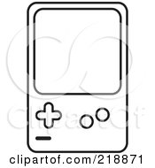 Black And White Handheld Video Game Device