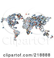 Royalty Free RF Clipart Illustration Of A Collage Of Photographs Forming A Map