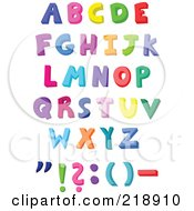 Royalty Free RF Clipart Illustration Of A Digital Collage Of Capital Colorful Letters And Symbols by yayayoyo