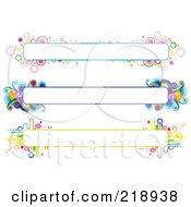Royalty Free RF Clipart Illustration Of A Digital Collage Of Three Colorful Website Banner Headers 9