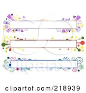 Royalty Free RF Clipart Illustration Of A Digital Collage Of Three Colorful Website Banner Headers 3