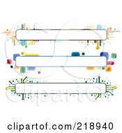 Royalty Free RF Clipart Illustration Of A Digital Collage Of Three Colorful Website Banner Headers 8