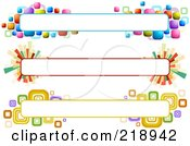Royalty Free RF Clipart Illustration Of A Digital Collage Of Three Colorful Website Banner Headers 10 by BNP Design Studio