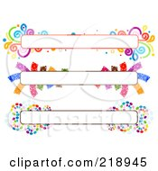 Royalty Free RF Clipart Illustration Of A Digital Collage Of Three Colorful Website Banner Headers 7