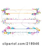 Royalty Free RF Clipart Illustration Of A Digital Collage Of Three Colorful Website Banner Headers 6