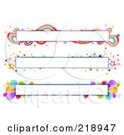 Royalty Free RF Clipart Illustration Of A Digital Collage Of Three Colorful Website Banner Headers 4