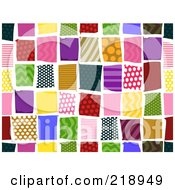 Background Of Colorful Square Patterns On White