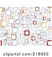 Royalty Free RF Clipart Illustration Of A Seamless Funky Background Of Squares On White by BNP Design Studio