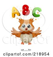 Royalty Free RF Clipart Illustration Of A Cute Owl With Letters
