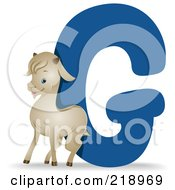 Royalty Free RF Clipart Illustration Of An Animal Alphabet With A Goat By A G by BNP Design Studio