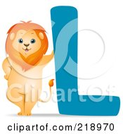 Royalty Free RF Clipart Illustration Of An Animal Alphabet With A Lion By An L