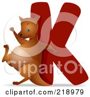 Royalty Free RF Clipart Illustration Of An Animal Alphabet With A Kangaroo By A K by BNP Design Studio
