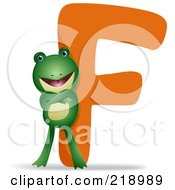 Royalty Free RF Clipart Illustration Of An Animal Alphabet With A Frog By An F