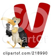 Animal Alphabet With A Vulture By A V