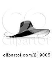 Royalty Free RF Clipart Illustration Of An Ornate Black And White Hat Design by BNP Design Studio