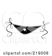 Royalty Free RF Clipart Illustration Of An Ornate Black And White Underwear Design With Hearts by BNP Design Studio
