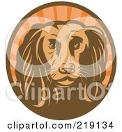 Royalty Free RF Clipart Illustration Of A Brown And Orange Cocker Spaniel Logo