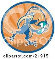 Retro Rugby Kiwi Bird Logo - 2