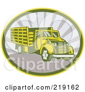 Royalty Free RF Clipart Illustration Of A Retro Lorry Logo by patrimonio