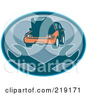 Royalty Free RF Clipart Illustration Of A Retro Auto Repair Logo With Wrenches by patrimonio #COLLC219171-0113