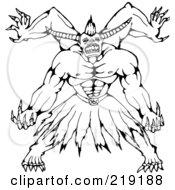 Sketched Horned Monster