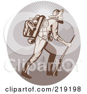 Royalty Free RF Clipart Illustration Of A Retro Miner Man Logo 3 by patrimonio