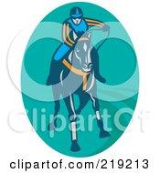 Royalty Free RF Clipart Illustration Of A Retro Horse Racing Logo