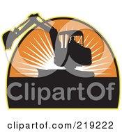 Royalty Free RF Clipart Illustration Of A Black And Orange Excavator Logo by patrimonio #COLLC219222-0113