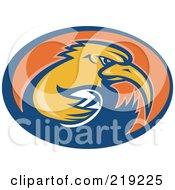 Retro Rugby Kiwi Bird Logo - 1