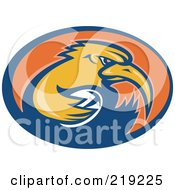 Royalty Free RF Clipart Illustration Of A Retro Rugby Kiwi Bird Logo 1 by patrimonio
