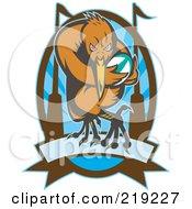 Retro Rugby Kiwi Bird Logo - 3