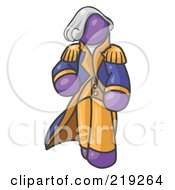 Clipart Illustration Of A Purple George Washington Character