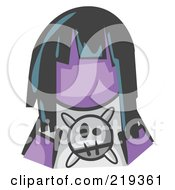 Royalty Free RF Clipart Illustration Of A Purple Woman Avatar Grumpy Girl