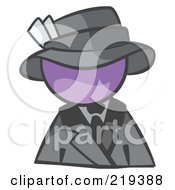 Purple Man Avatar Dressed For A Night On The Town