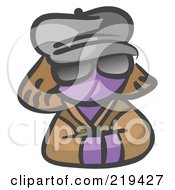 Royalty Free RF Clipart Illustration Of A Purple Woman Avatar Incognito