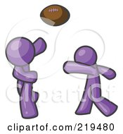 Purple Men Playing Football