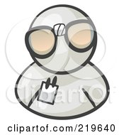 Royalty Free RF Clipart Illustration Of A White Man Wearing Large Nerdy Glasses by Leo Blanchette