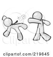 Royalty Free RF Clipart Illustration Of A White Man Being Punched By Another